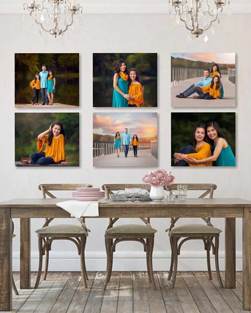 family pictures on wall