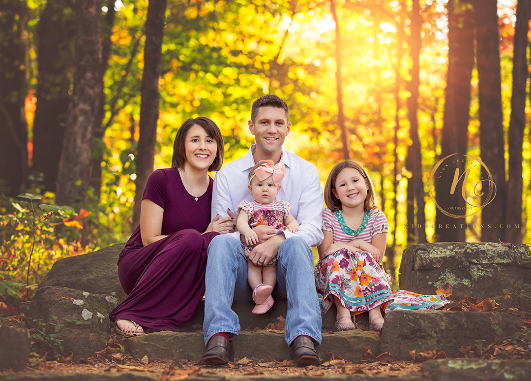 Fall family pictures at Crystal Bridges Bentonville