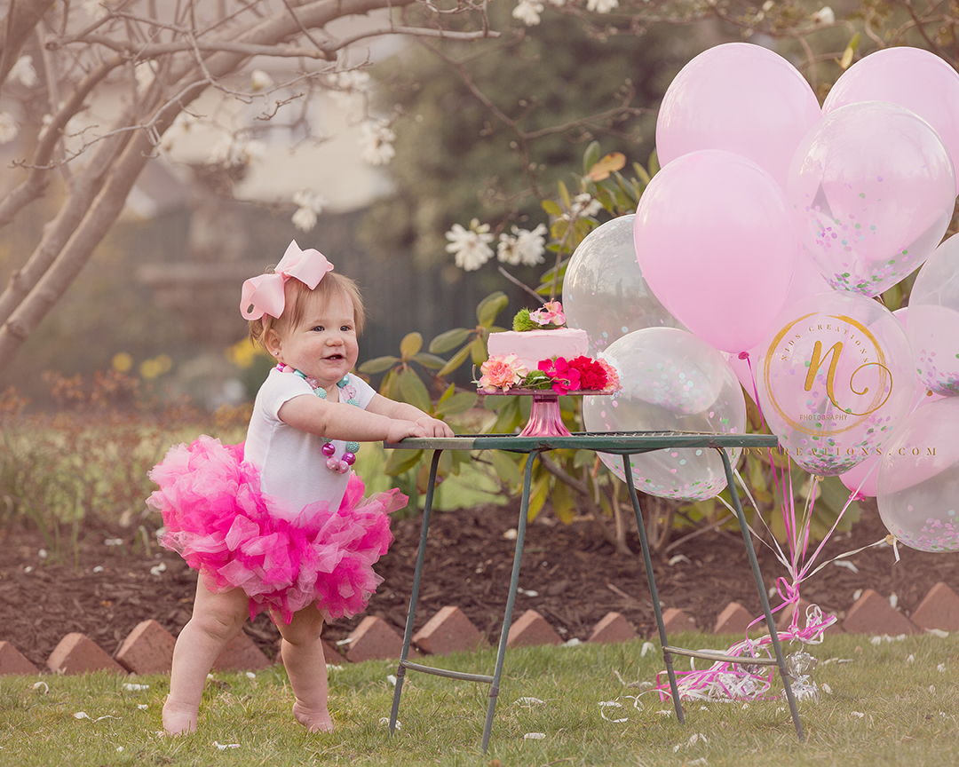 first birthday shoot at bogle park bentonville